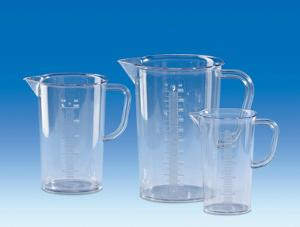 Measuring beaker with handle