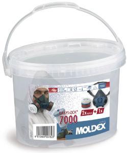Halfgelaatsmaskers tegen gassen, dampen en stof, 7000-serie