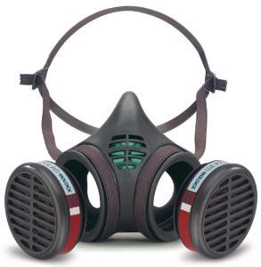 Halfgelaatsmaskers tegen gassen, dampen en stof, 8000-serie